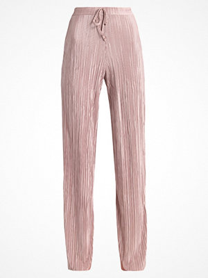 Missguided Tall PLISSE PLEATED WIDE LEG DRAWSTRING WAIST Tygbyxor pink gammelrosa
