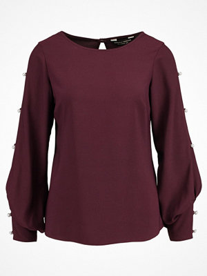 Dorothy Perkins PEARL EMBROIDED SLEEVE Blus berry