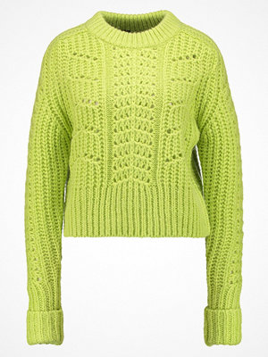 Topshop BOUTIQUE CABLE Stickad tröja lime