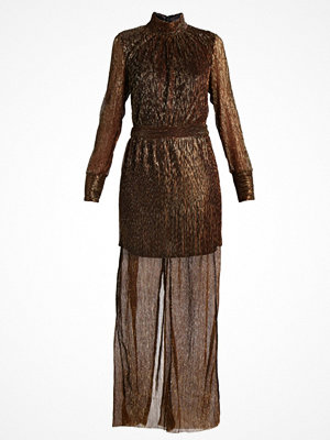 Gestuz REAGAN TURTLENECK DRESS Maxiklänning black copper