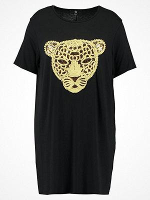 Missguided Plus EMBROIDERED TIGER Jerseyklänning black