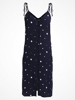 Topshop STAR MIDI SLIP Skjortklänning navy