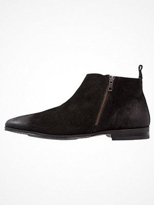 Boots & kängor - Topman ZIP BOOT  Stövletter black