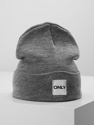 Mössor - Only ONLLUCIA BEANIE LOGO Mössa light grey melange