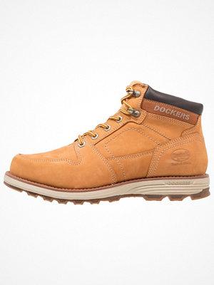 Boots & kängor - Dockers by Gerli Snörstövletter golden tan