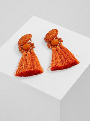 Topshop örhängen B&B ORNATE STONE TASSEL DROP  Örhänge orange