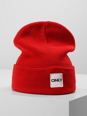 Mössor - Only ONLLUCIA BEANIE LOGO Mössa high risk red