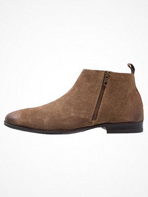 Boots & kängor - Topman ZIP BOOT  Stövletter brown