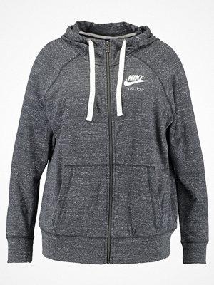 Street & luvtröjor - Nike Sportswear GYM VINTAGE Sweatshirt anthracite/sail