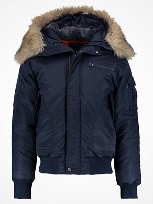 Urban Classics HOODED HEAVY FAKE FUR  Bomberjacka navy
