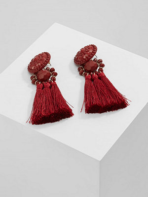 Topshop örhängen B&B ORNATE STONE TASSEL DROP  Örhänge dark red