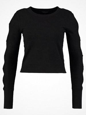 Topshop BOW SLEEVE CROP Stickad tröja black