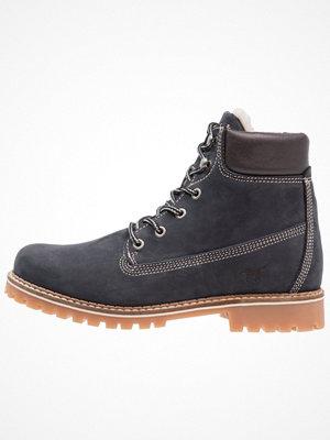 Boots & kängor - Mustang Snörstövletter dunkelblau