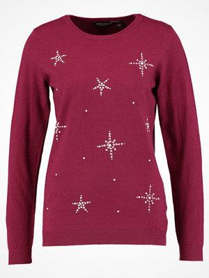 Dorothy Perkins HOTFIX SNOWFLAKE  Stickad tröja dark red