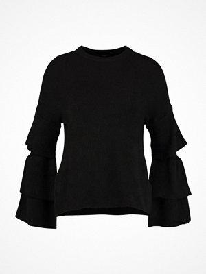 Only ONLFLOWER RUFFLE Stickad tröja black