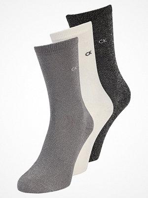 Strumpor - Calvin Klein Underwear HOLIDAY SPARKLE CREW GIFT BOX 3 PACK Strumpor black/ecru/silver