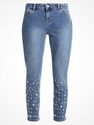 Dorothy Perkins MIDWASH EMBELLISHED Jeans straight leg blue