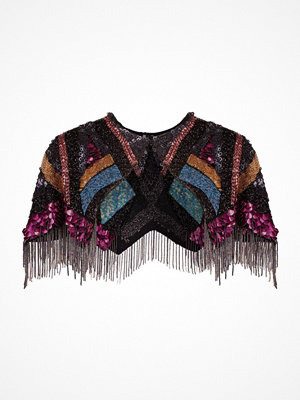 Topshop ULTRA BEADED Poncho multicoloured