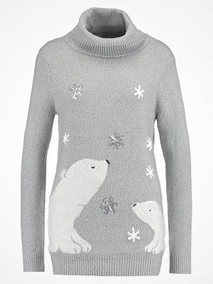 Dorothy Perkins POLAR BEAR ROLL NECK Stickad tröja grey