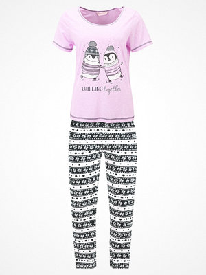 Pyjamas & myskläder - Dorothy Perkins CHILLING TOGETHER PENGUIN SET Pyjamas pink