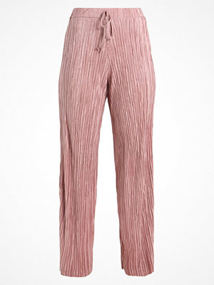 Missguided Petite PLISSE PLEATED WIDE LEG DRAWSTRING WAIST Tygbyxor pink gammelrosa