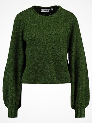 Weekday Stickad tröja army green melange