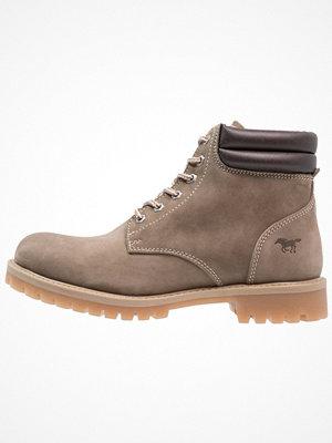 Boots & kängor - Mustang Snörstövletter taupe