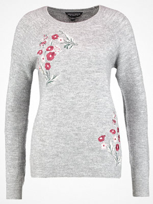 Dorothy Perkins EMBROIDERED Stickad tröja grey