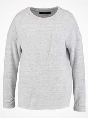 Vero Moda VMCHULA FALLON LS ONECK  Stickad tröja light grey melange