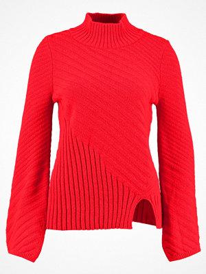 Topshop FUNNEL  Stickad tröja red