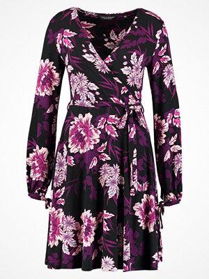 Dorothy Perkins WINTER FLORAL WRAP  Jerseyklänning black
