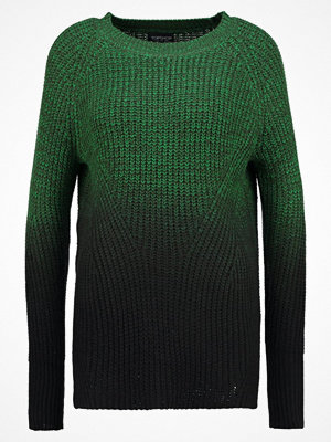 Topshop TWIST DIP DYE Stickad tröja green