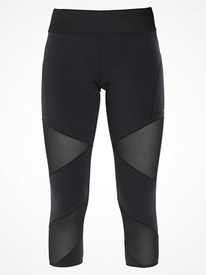 Nike Performance FLY LUX CROP Träningsshorts 3/4längd black/clear