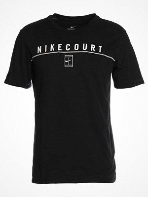 Sportkläder - Nike Performance COURT Tshirt med tryck black/white