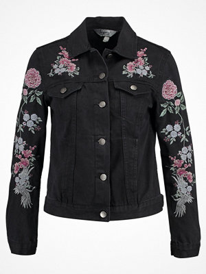 Dorothy Perkins EMBROIDERY Jeansjacka washed black