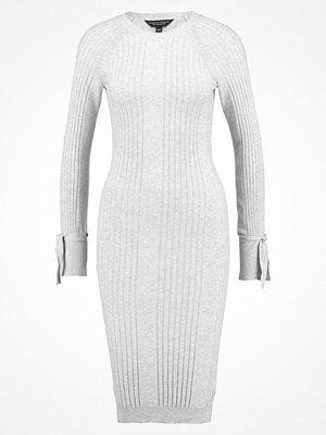 Dorothy Perkins TIE SLEEVE BODYCON Stickad klänning grey marl