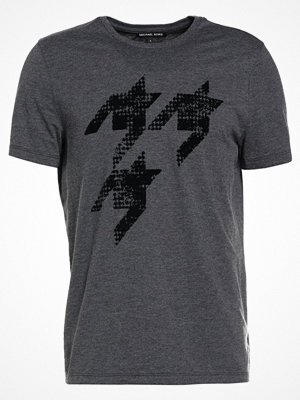 T-shirts - Michael Kors FLOPPED HOUNDSTOOTH GRAPHIC Tshirt med tryck charcoal melange