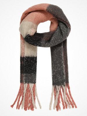 Halsdukar & scarves - Only ONLAZUR HEAVY FRINGE SCARF Halsduk night sky/pumice stone/rose