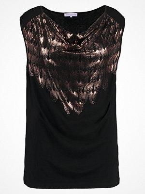 Anna Field Curvy Tshirt med tryck black/ rose gold