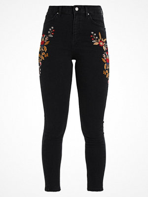 Jeans - Topshop TRANS EMBROIDERY JAMIE Jeans Skinny Fit black