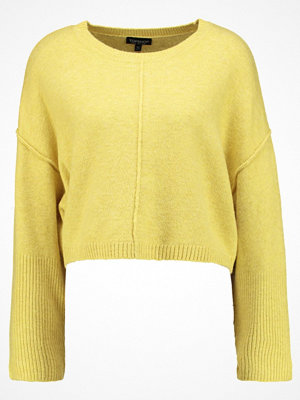 Topshop WIDE SLEEVE CROP Stickad tröja yellow