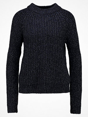 Vero Moda VMBELLE LS ONECK Stickad tröja navy blazer