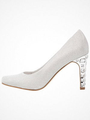 Tamaris Klassiska pumps silver
