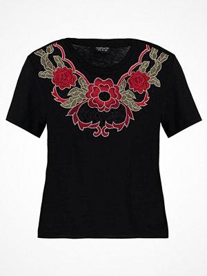Topshop FLORAL APPLIQUE Tshirt med tryck black