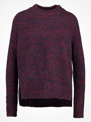 Vero Moda VMLONE Stickad tröja dark red, mottled dark blue