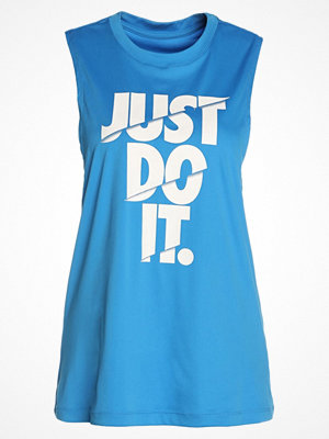 Nike Performance DRY TANK MUSCLE Funktionströja light photo blue/white