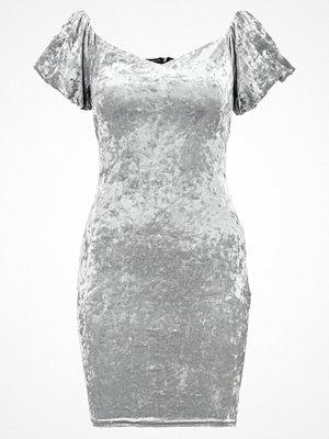 New Look CRUSH BARDOT PUFF Jerseyklänning grey