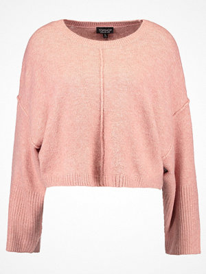 Topshop WIDE SLEEVE CROP Stickad tröja rasberry