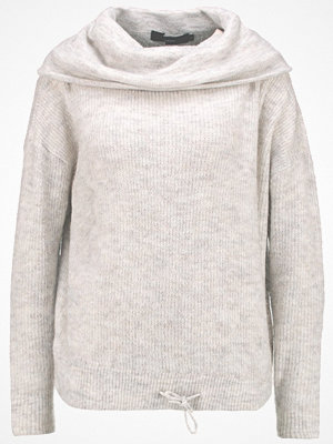 Vero Moda VMHELEN STRING  Stickad tröja light grey melange/snow white