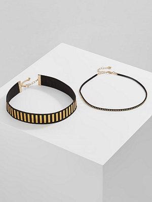 Only ONLDONA 2 PACK  Halsband gold coloured/black